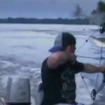 pêche de la carpe à l'arc