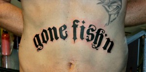 tatouage gone fishing