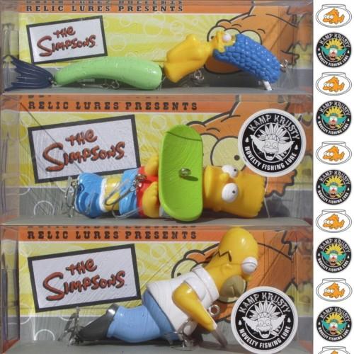 leurres de pêche Homer Marge Bart Simpson