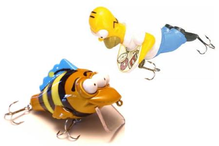 Simpsons homer leurre pêche