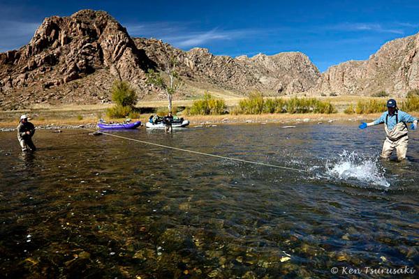 pêche du taimen en Mongolie