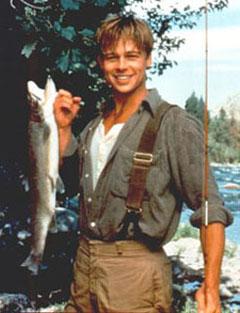 Brad Pitt et au milieu coule une rivière