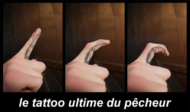 tatouage canne à pêche