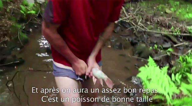 la video du gars qui pêche avec son zizi