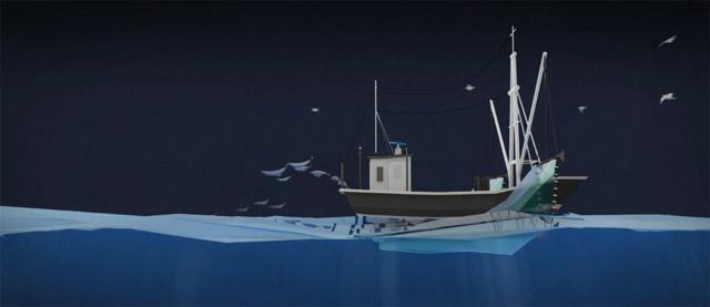 chalutier responsable de la surpêche