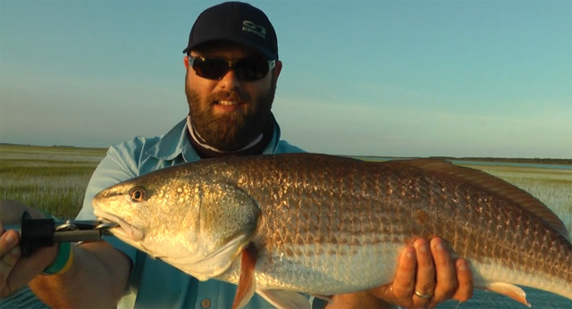 peche à la mouche en mer du redfish