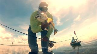 peche du redfish en kayak