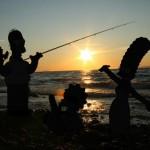 la famille Simpson à la pêche