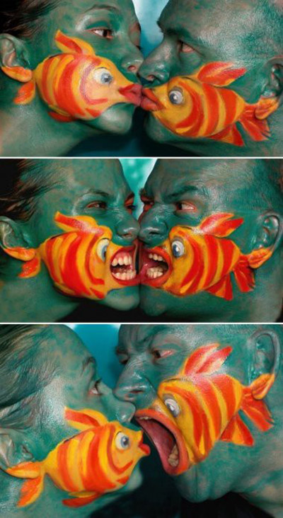 body painting fish