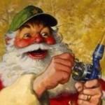 père Noël pêcheur