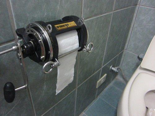 Bathroom accessories toilet roll holder - A Reel Toilet Paper Holderfishing News