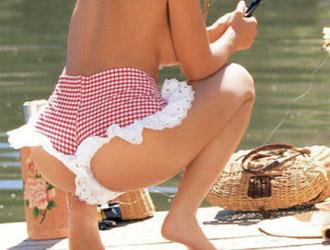 femme qui pêche