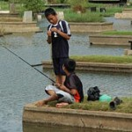 Fishing at Cemetery