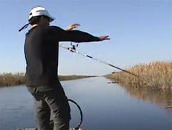 pêcheur se casse la figure