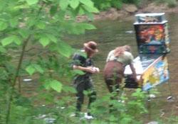 jouer flipper dans riviere
