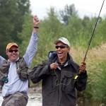 Barack Obama Fishing