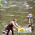 Playing Pinball in a River