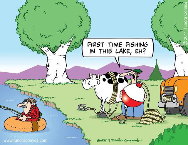 funny fishing comic