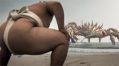 sumo fight monster crab