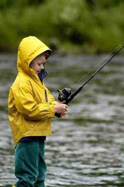 gamin pêcheur