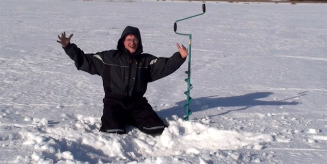 fiherman on ice