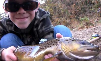 kid  trout fishing