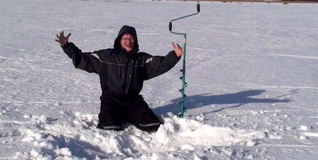 pecheur sur glace
