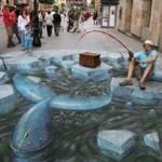 pêche dans la rue