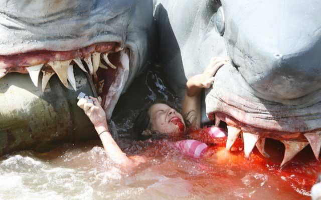l'attaque du requin à deux têtes, film épouvante