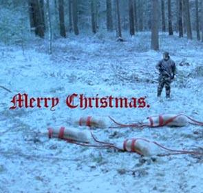 le chasseur a tué les rennes du Père Noël