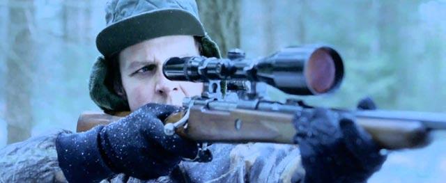 hunter killing Santa's reindeer