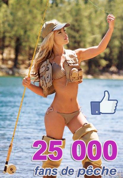 une jolie pêcheuse pour célébrer nos 25000 fans Facebook