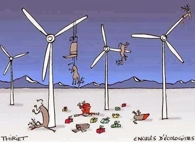 Noël ruiné par les éoliennes des écolos