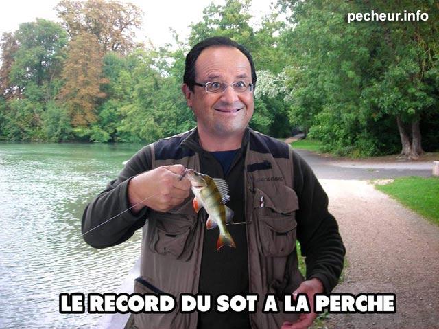 François Hollande pêcheur de perche