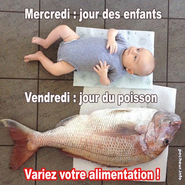 vendredi jour du poisson, mercredi jour des enfants : variez votre alimentation