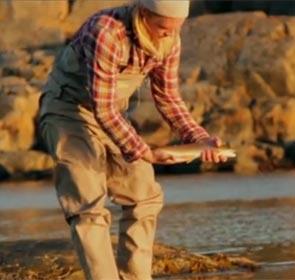pêcheur à la mouche en Scandinavie