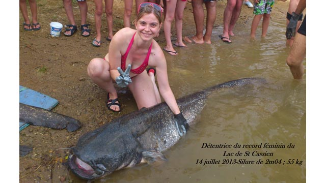 record féminin pêche silure
